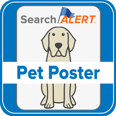 Lost pet poster for microchipped pet